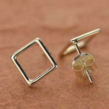 Square Post Earrings - Solid 925 Sterling Silver
