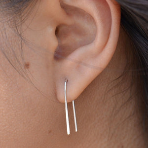 Arc Earrings - Solid 925 Sterling Silver
