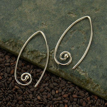 Marquis Spiral Earrings - Solid 925 Sterling Silver