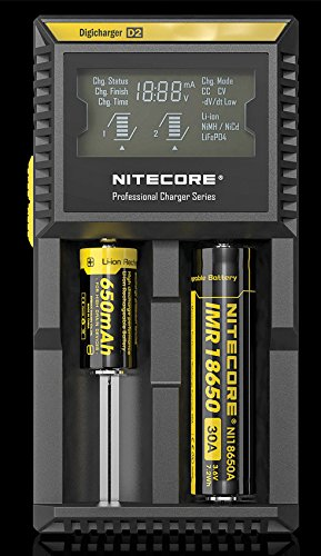 Nitecore Intellicharger D2 LCD 2-Slot Charger