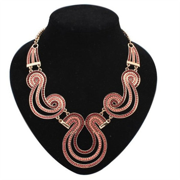 New Statement Choker Vintage Western Style Collar Bohemian Nation Retro Beads Necklaces&Pendants Women Jewelry Colares A044
