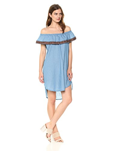 Wrangler Women's Denim Off Shoulder Western Dress