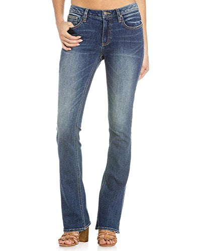 Miss Me Women's Simplicity is Key Mid-Rise Boot Cut Jeans - M1001b134-K843