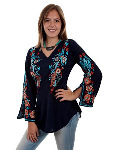 Scully Womens Becca Embroidered Blouse