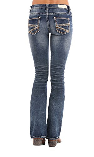 Rock and Roll Cowgirl Womens Rival Bootcut in Dark Vintage W6-5078