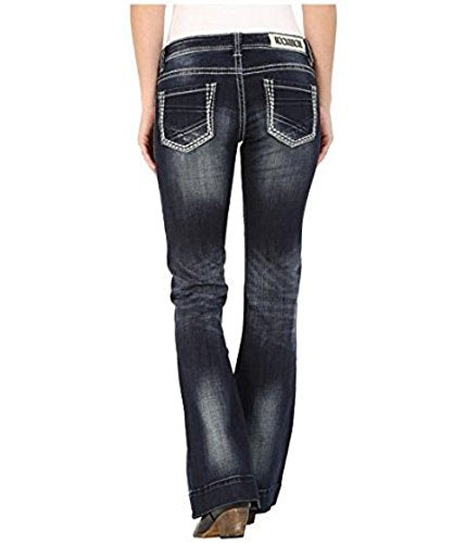 Rock and Roll Cowgirl Women's Trouser Low Rise in Dark Vintage W8-5640