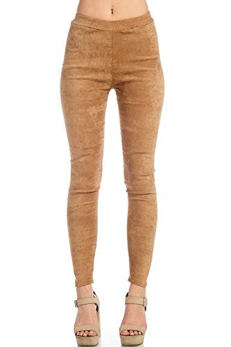 Venti6 Solid Plain Suede Leggings Bottoms Pants Leggings High Waist For Womens and Girls