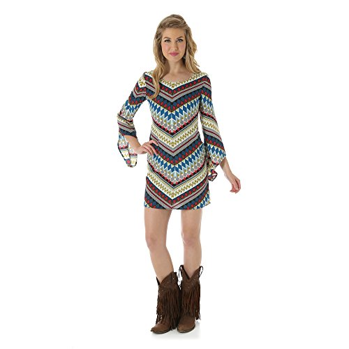 Wrangler Women's Rock 47 Multi-Color Diamond Pattern Dress