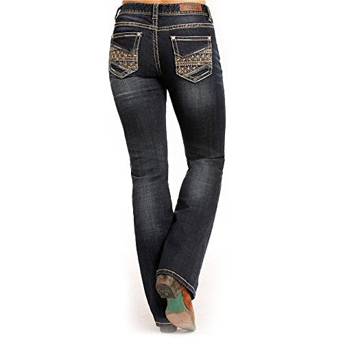 Rock & Roll Cowgirl Railroad Mid Rise Jean