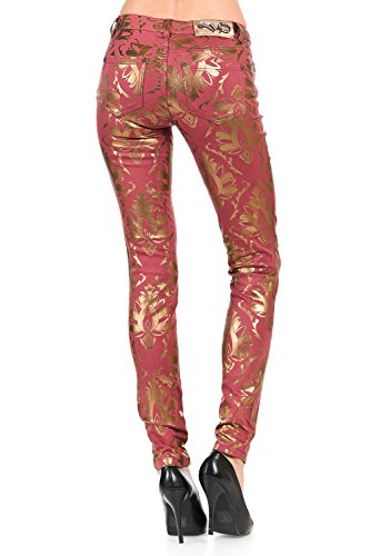 VIRGIN ONLY Women's Printed Skinny Jeans