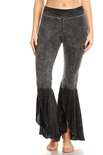 T Party Womens Mineral Tulip Flare Contrast Yoga Pant/