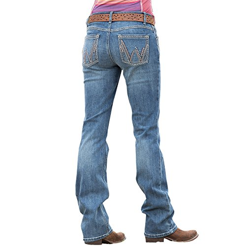Wrangler Ladies Shiloh Ultimate Riding Jean Medium Blue