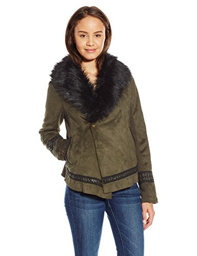 Miss Me Junior's Fur Long Sleeve Jacket