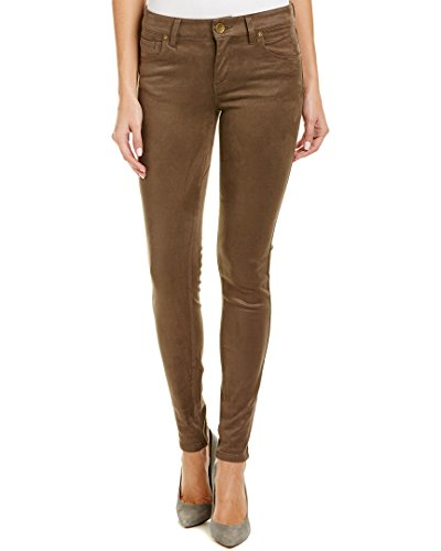 KUT from the Kloth Womens MIA toothpick Five-Pocket Skinny Faux Suede In Brown