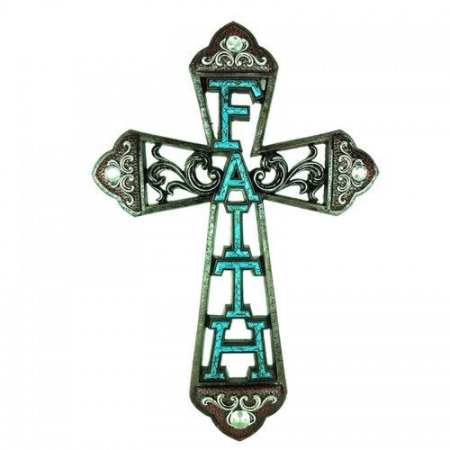Polly House Western Style Faith Wall Cross for Wall Decoration and Great for Gifts