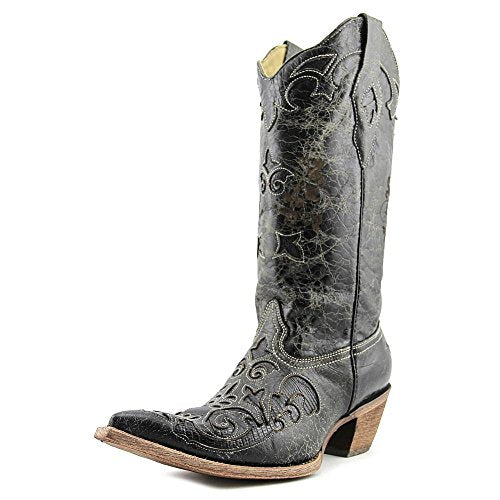 CORRAL Women's Lizard Inlay Western Cowgirl Boot Pointed Toe - C2108
