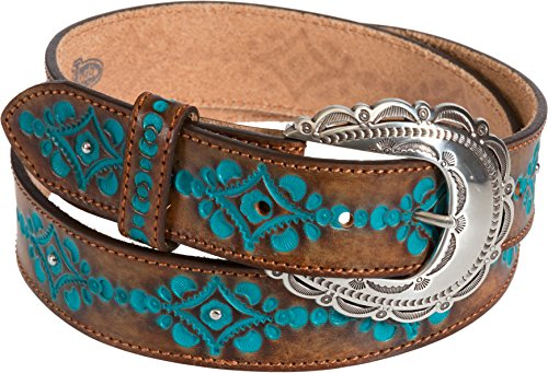Anasazi Turquoise Brazilian Leather Belt