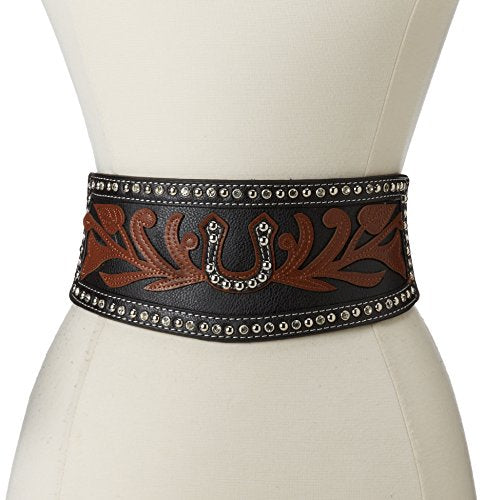 Ariat Women's Wide Stretch Horseshoe Belt