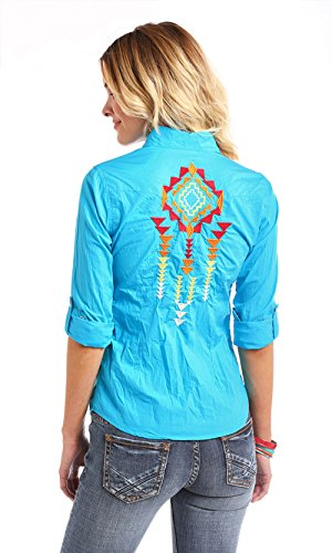 Panhandle Aztec Embroidered Snap Shirt,