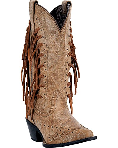 Laredo Women's Tygress Fringe Cowgirl Boot Snip Toe - 52031