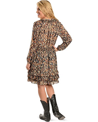 Scully Women's Feather Print Dress - Hc76 Bk