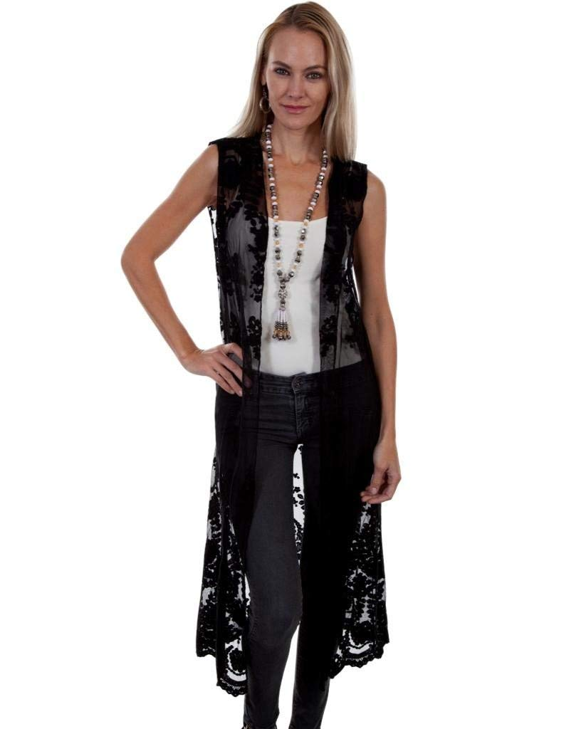 ae6c451d1dc Scully Womens Stevie Lace Duster Vest – Stacys Corral