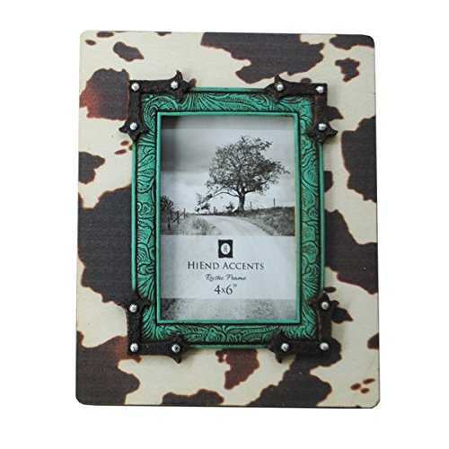 HiEnd Accents Cowprint & Turquoise Picture Frame