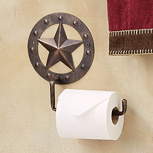 Stars & Studs Metal Toilet Paper Western Holder - Western Bath Decor