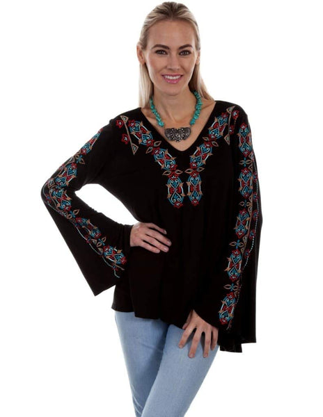 Scully Womens Amanda Embroidered Tunic