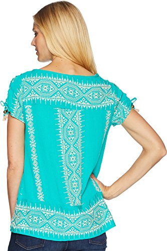 Wrangler Women's Embroidered Short Sleeve Top - Lw6219g