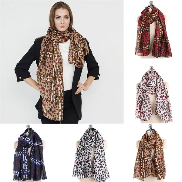 2018 hot new fashion autumn and winter warm scarf leopard pattern scarf
