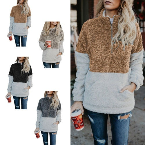 Fleece Fur Jacket Outerwear Tops Winter Warm Hooded Fluffy Coat Fashion Women's