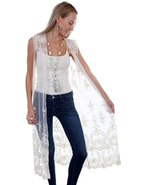 Scully Womens Stevie Lace Duster Vest