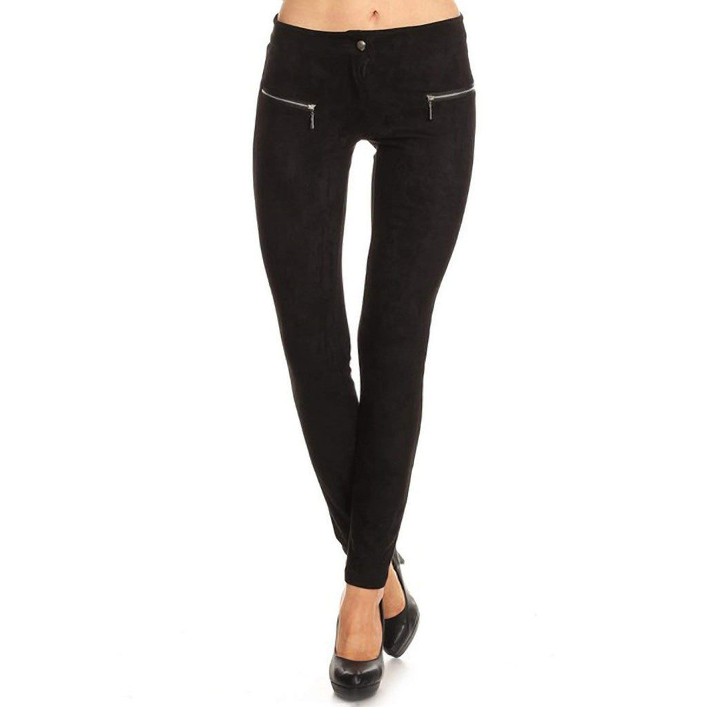 Kate Marie Lady's Faux Suede Pants