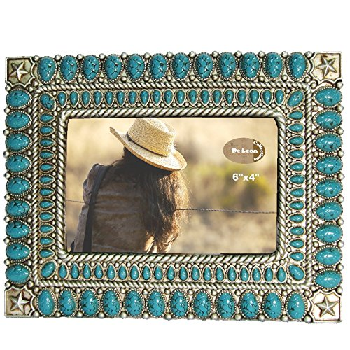 "LL Home 12532 Star Turquoise Color 4"" x 6"" Photo Frame"
