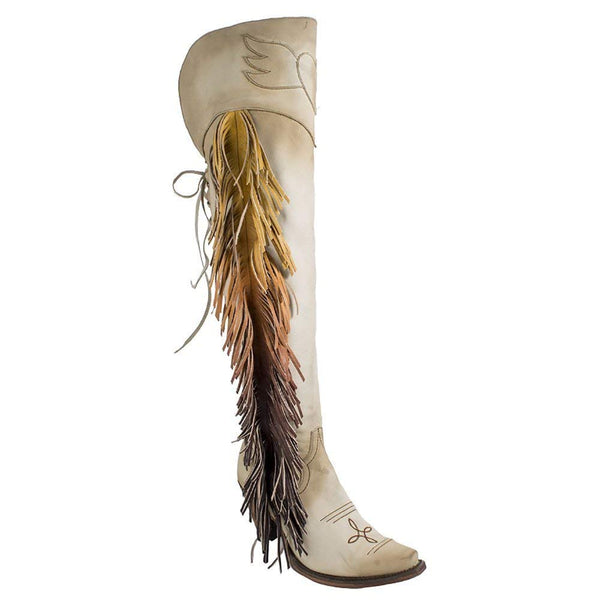Junk Gypsy Western Boots Womens Spirit Animal Ombre Bone JG0022C