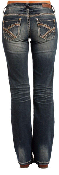 Rock & Roll Cowgirl Extra Stretch Boyfriend Multi Color Seam Jeans