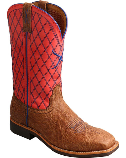 Twisted X Ladies Sq Toe Coral Top Hand Boots