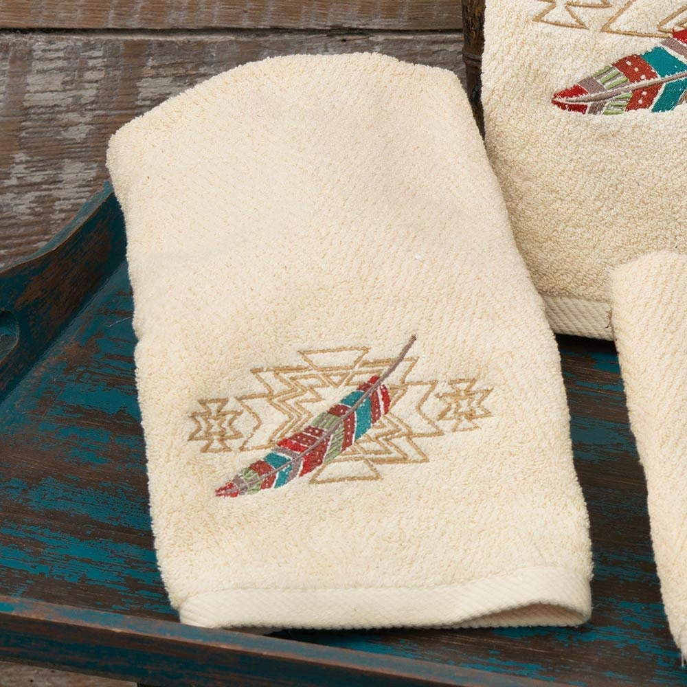 Black Forest Decor Tribal Sky Hand Towel
