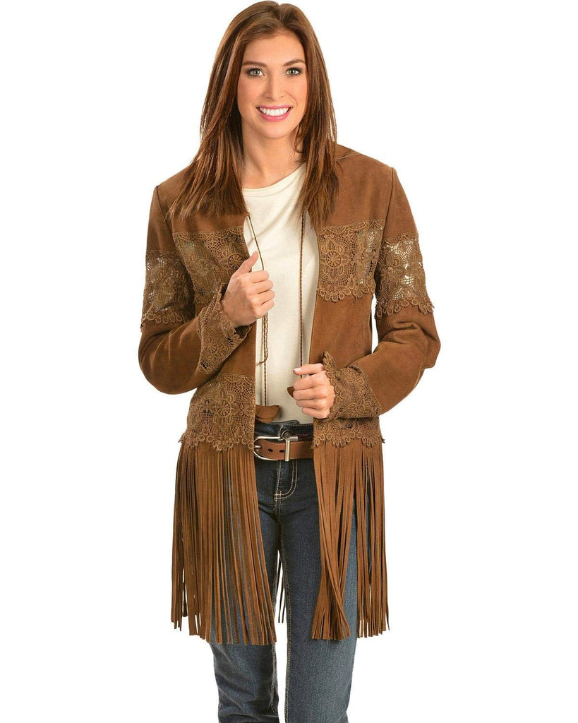 Scully Women's Long Fringe Suede Coat - L124 65