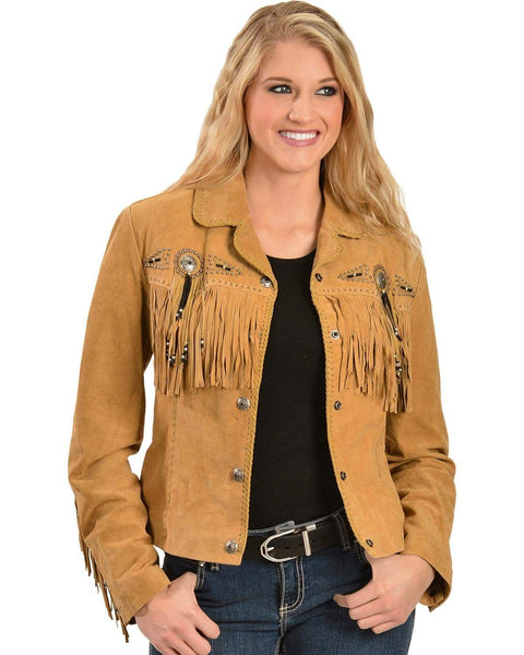 Scully Women's Fringed Suede Leather Jacket - L152-27