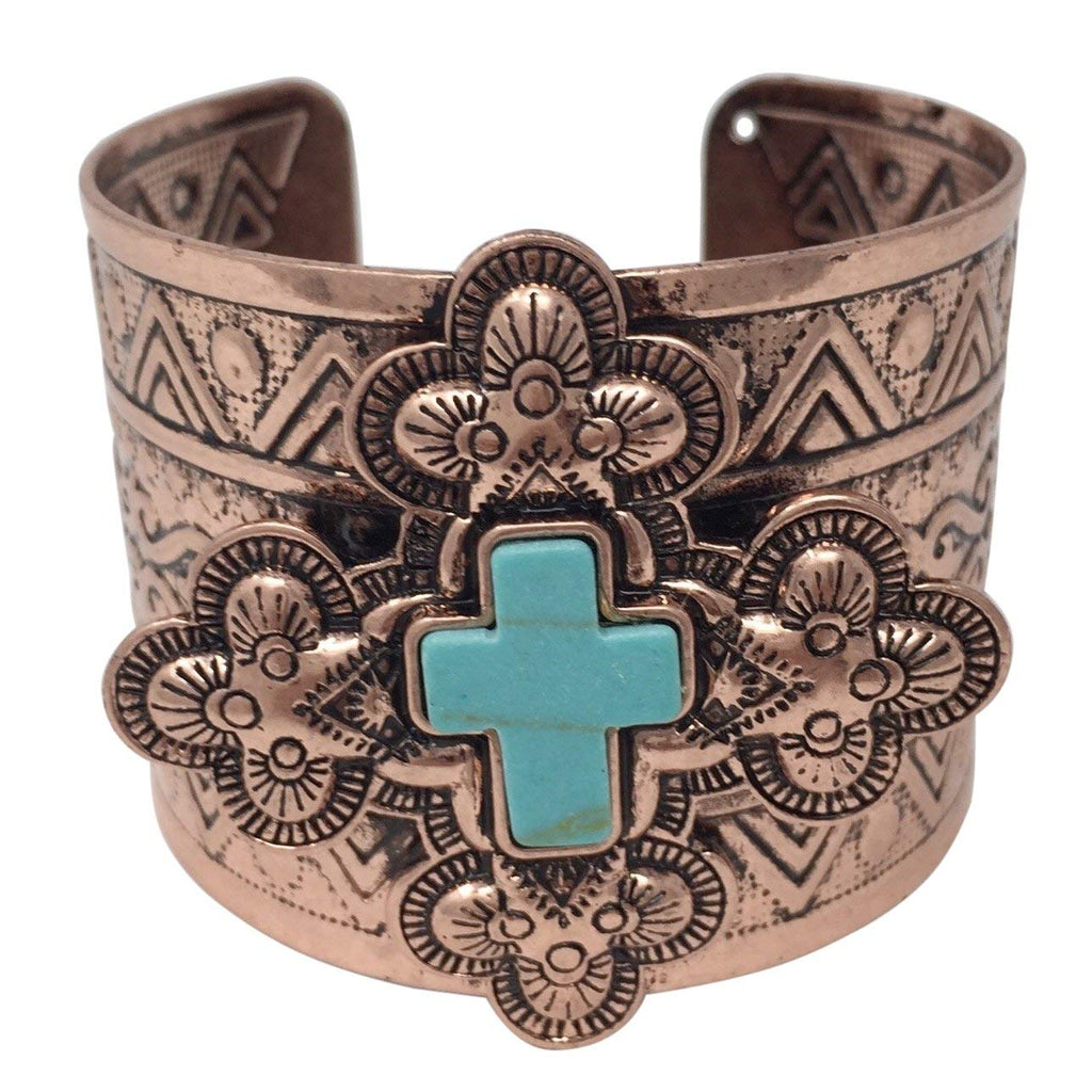 Burnished Silver with AB Bling Western Cuff Bracelet