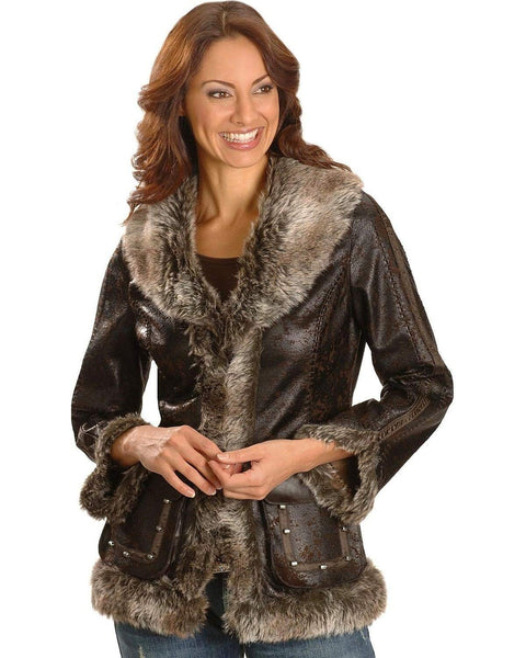 Scully Women's Faux Leather and Fur Jacket - 8013