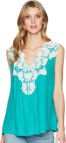 Wrangler Womens Sleeveless Swing Applique Top