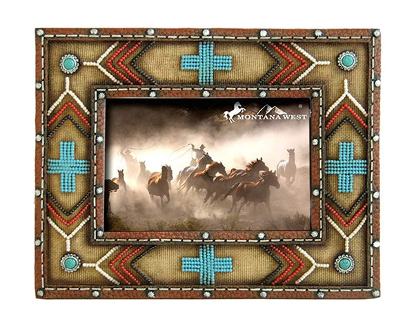 Western Style Decorative Picture Frame (Turquoise)