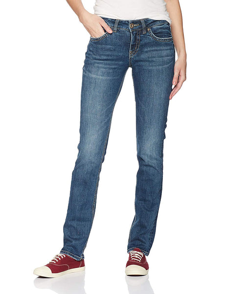 Silver Jeans Co......... Women's Suki Curvy Fit Mid Rise Straight Leg Jeans