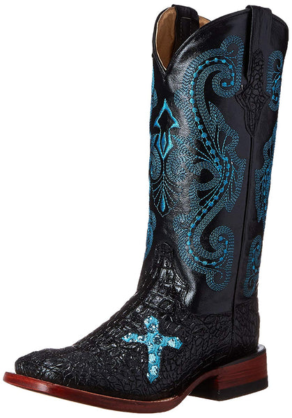 Ferrini Women's Print Caiman Cross B Western Boot