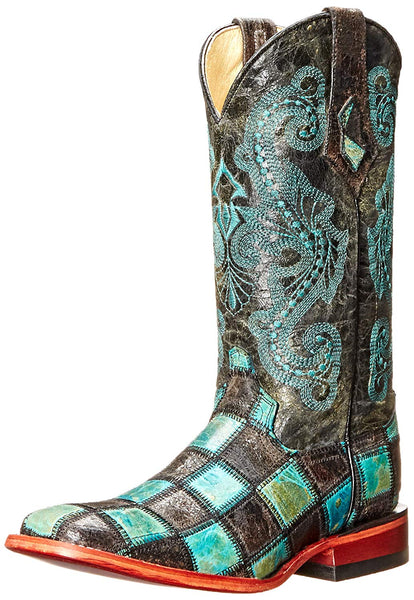Ferrini Women's Patchwork BT Western Boot