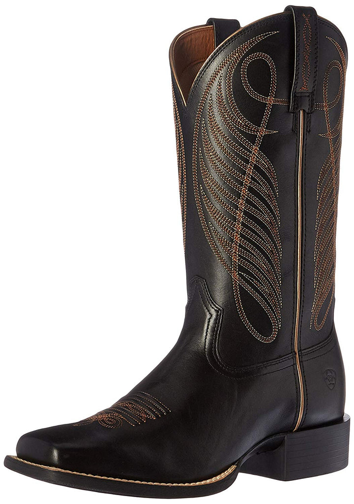 95e86c43bc9 Ariat Women's Round up Wide Square Toe Western Cowboy Boot