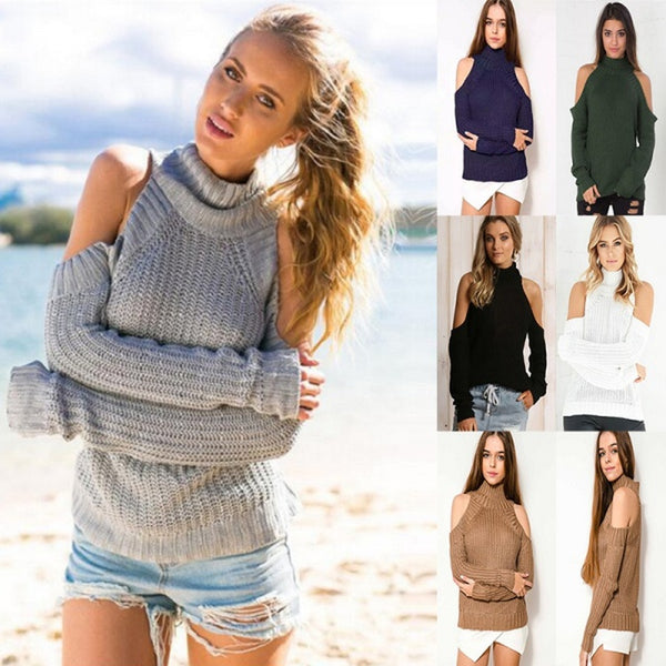 Fall Casual Pullover Half Turtleneck Loose Sweater